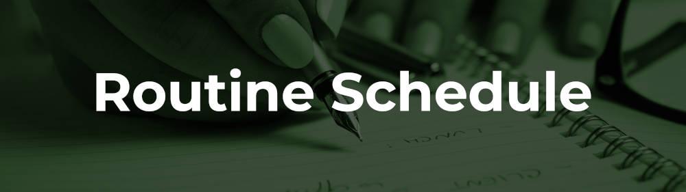 routine schedule
